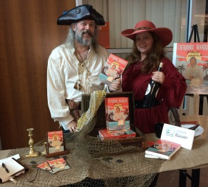 John and Tori – or Ol' Chumbucket and Mad Sally – at the Books on the Bayou event at the Terrebonne Parish Public Library in Houma.
