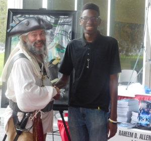 Ol' Chumbucket with Raheem E. Allen at the Louisiana Book Festival in Baton Rouge, Oct. 31.