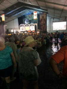 Blues Tent aisles awash