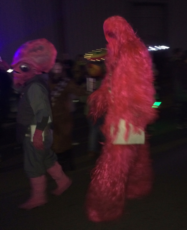 A hot pink Chewbacca