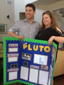Tori and Ricardo and his fifth grade science fair project. At the time he took the demotion of Pluto from plant to minor planet very badly.